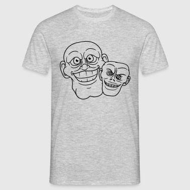2 friends team couple grin crazy insane funny cool - Men's T-Shirt