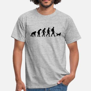Hiking Evolution Evolution Hiking WIth Dog - Men's T-Shirt
