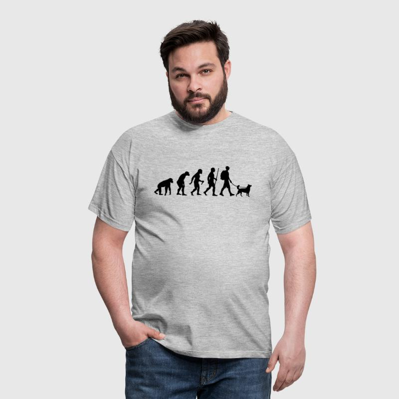 Evolution Hiking WIth Dog - Men's T-Shirt