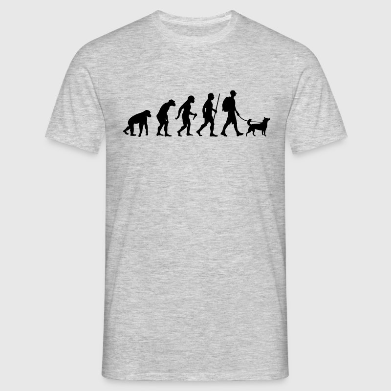 Evolution Hiking WIth Dog - Mannen T-shirt