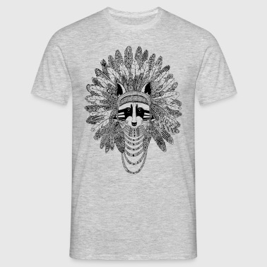 Indian Raccoon - Men's T-Shirt