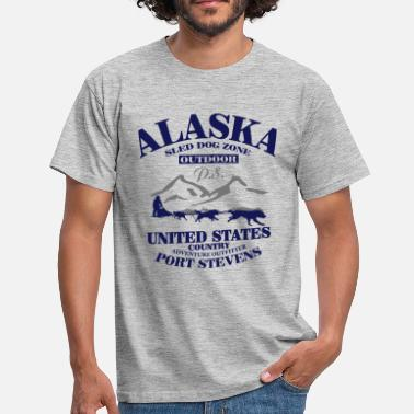 Sled Dog Husky - dog sled - Yukon Quest - Alaska  - Men's T-Shirt