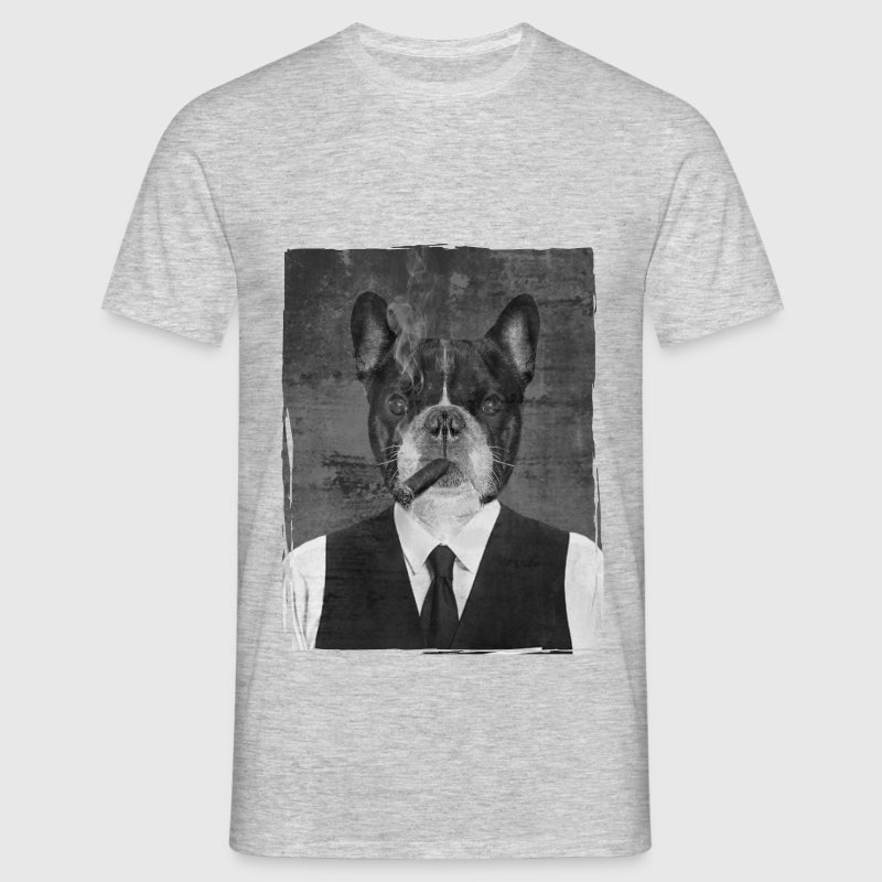 Bouledogue au cigare - T-shirt Homme