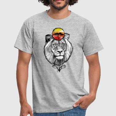 Yellowcat løve savanna - Herre-T-shirt