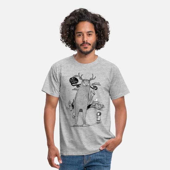 Collections T-Shirts - Do_you_know_Karl - Männer T-Shirt Grau meliert