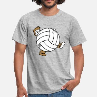 Klubber stor volleyball sports club bold kjole s - Herre-T-shirt