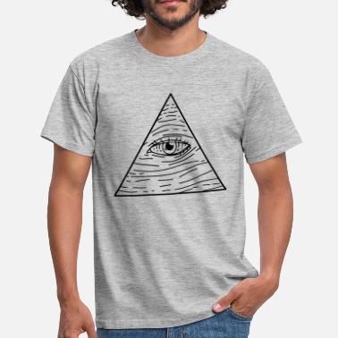 Pyramid Illuminati Illuminati pyramid Eye of Providence - Men's T-Shirt