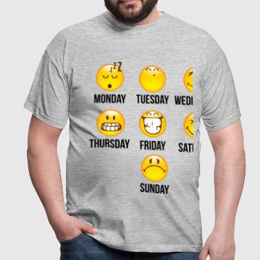 SmileyWorld Weekly Overview - Mannen T-shirt