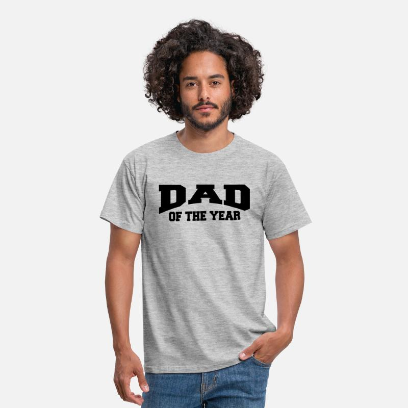 Daddy T-Shirts - Dad of the year - Men's T-Shirt heather grey