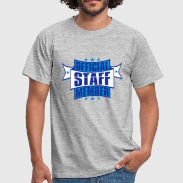 emblem star employee banner stamp sticker o - Men's T-Shirt