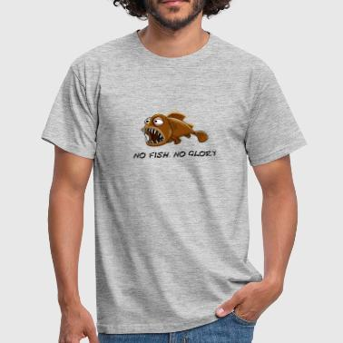 Funny brown fish, No fish, no glory. - Mannen T-shirt