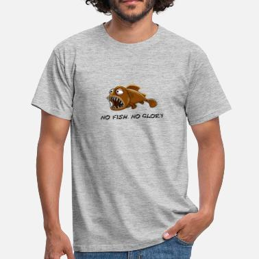 Glory Funny brown fish, No fish, no glory. - Mannen T-shirt