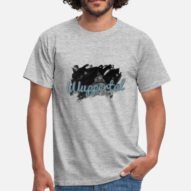 Town Hall Wuppertal Town Hall with Neptune Fountain - Men's T-Shirt