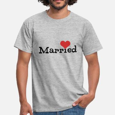 Voyage De Noces Just Married With Heart - T-shirt Homme
