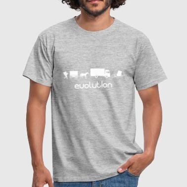 Auto Cargo Wheel Transport Evolution - Mannen T-shirt