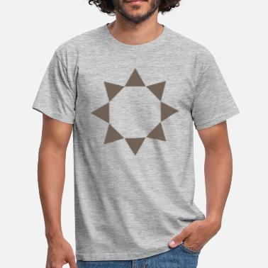 Taupe Triangle Taupe en cercle - T-shirt Homme