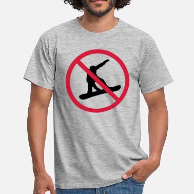 Traffic prohibited sign zone no driving snowboard jump - Men's T-Shirt