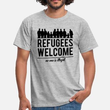 Syria Refugees welcome - Men's T-Shirt