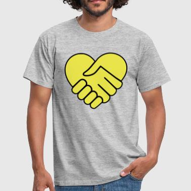 Hand On Heart Hand in hand heart yellow - Men's T-Shirt