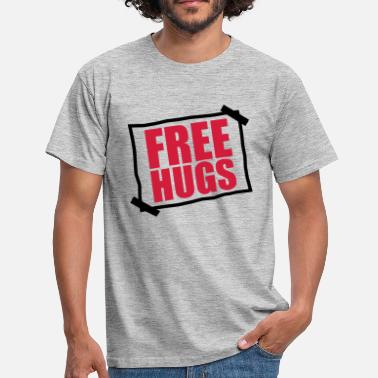 Paper Planes paper pasted note notices free hugs free - Men's T-Shirt