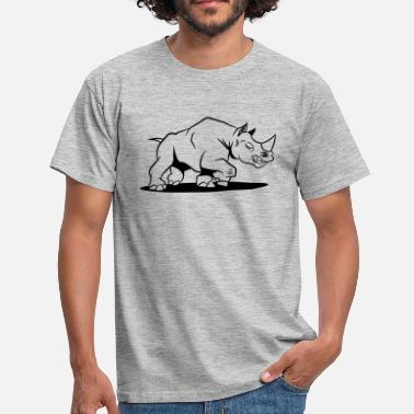 Rhinoceros Rhino cool attack - Men's T-Shirt