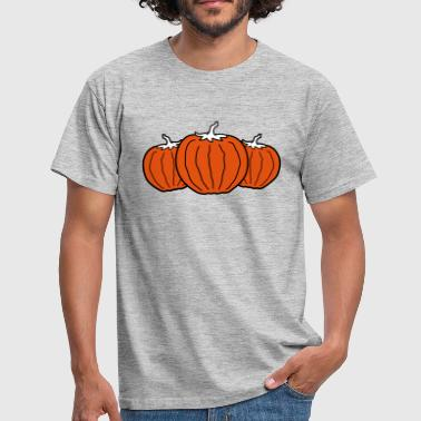 Fruitboom veel 3 kuerbis halloween fruit tomaat fruit rond - Mannen T-shirt