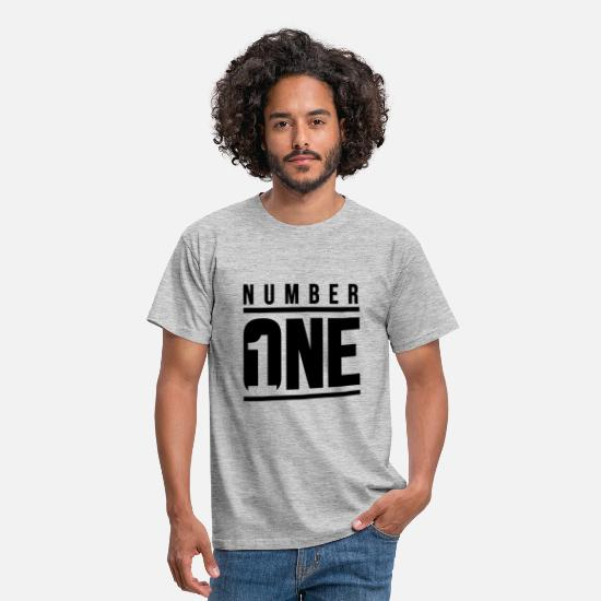 One T-Shirts - Number ONE - Men's T-Shirt heather grey