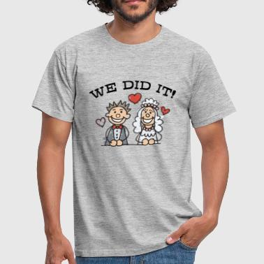Voyage De Noces Just Married We Did It - T-shirt Homme