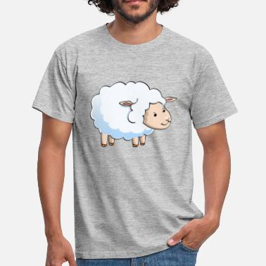 Cow Print cute sheep logo - Men's T-Shirt