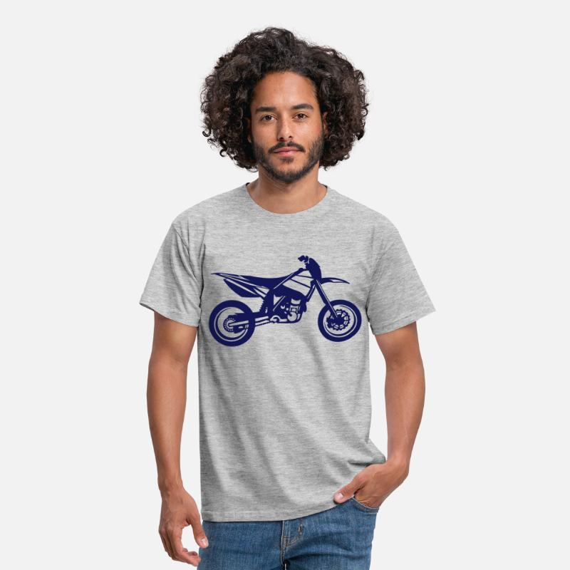 Motocross T-Shirts - SuperMoto - Men's T-Shirt heather grey