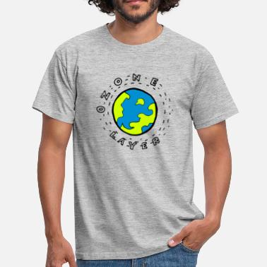 Ozone Earth's Ozone Layer Drawing Clipart - Men's T-Shirt