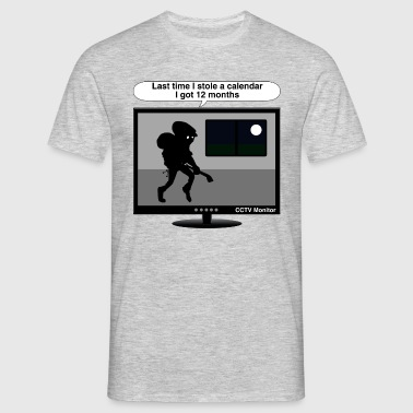 CCTV monitor - Thief-calendar - Men's T-Shirt