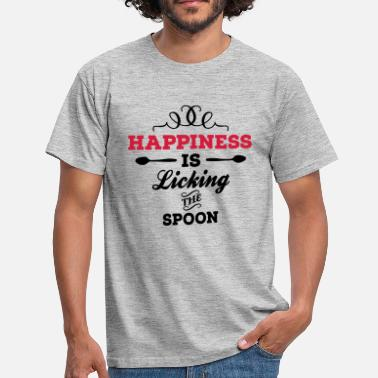 Spoon Happiness is licking the spoon - Camiseta hombre