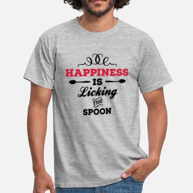Happiness is licking the spoon - Men's T-Shirt