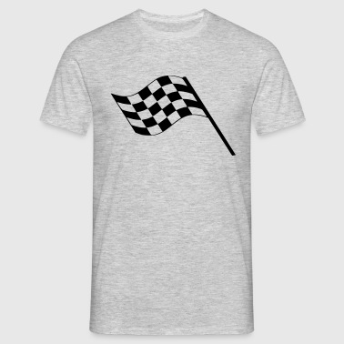 Flag Race Car Destination Motorcycle - Men's T-Shirt