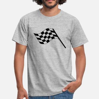 Flags Flag Car Racing Flag Race Car Destination Motorcycle - Men's T-Shirt