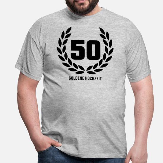 50 Goldene Hochzeit Männer T Shirt Spreadshirt