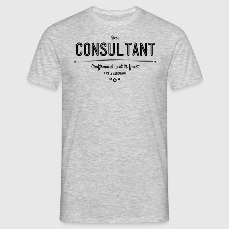 Best consultant - craftsmanship at its finest, like a super hero - Men's T-Shirt