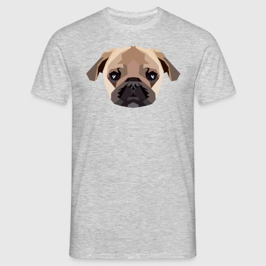 Mops (Low Poly) - Männer T-Shirt