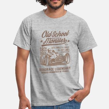 Monster Race Old School Road Race Monster - Men's T-Shirt