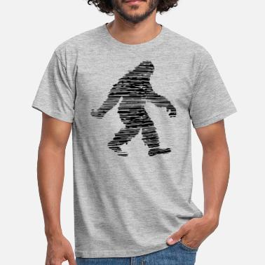 Hatchet hatch scratch cracks walking running sideways - Men's T-Shirt