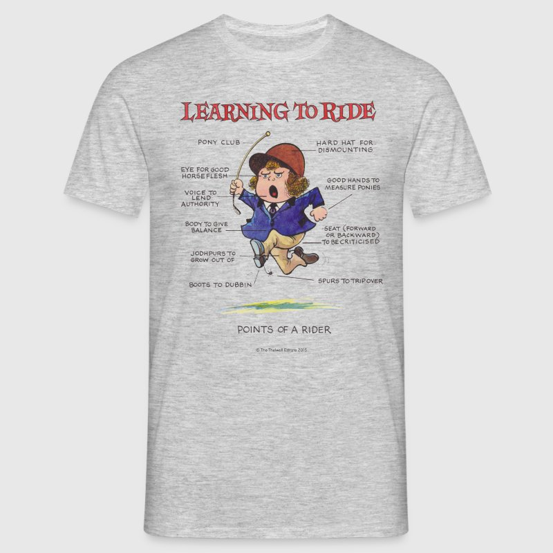 Thelwell - Learning to ride - Men's T-Shirt