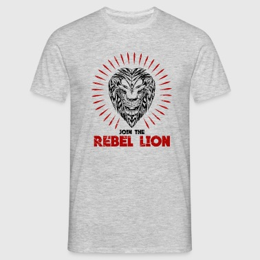 rebel lion - join now - Männer T-Shirt
