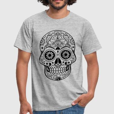 Gothic Ornaments Sugar Skull - black - Männer T-Shirt
