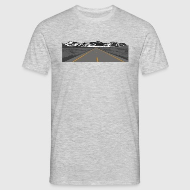 Highway /// Straße /// Bergpanorama - T-shirt Homme