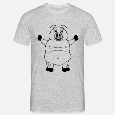 gran polla cerdo gordo jabalí lechón historieta có Camiseta hombre ... 1989e4122167f