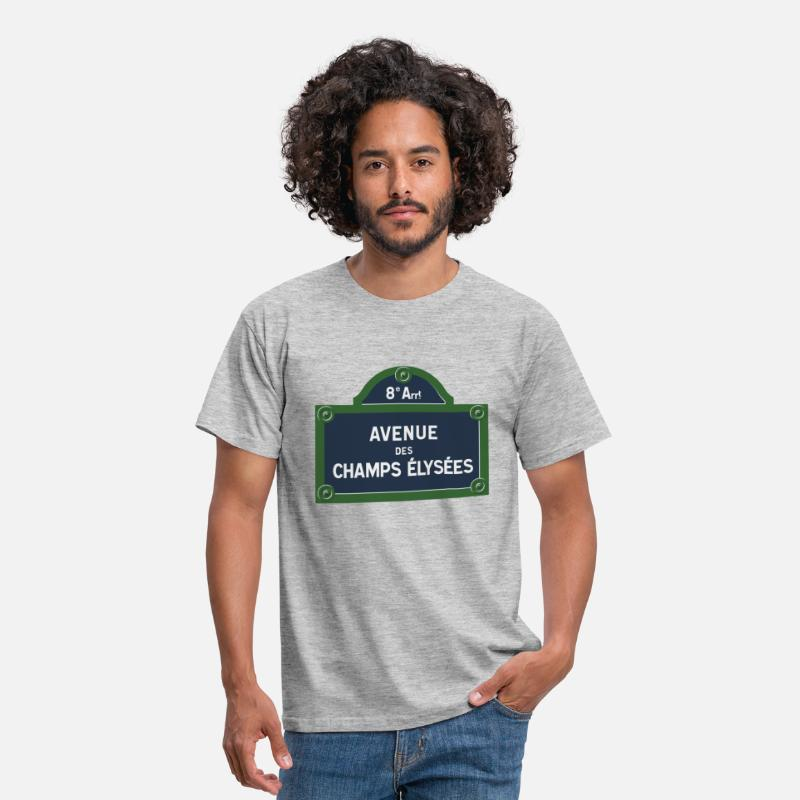 France T-shirts - Avenue des Champs Elysees - T-shirt Homme gris chiné