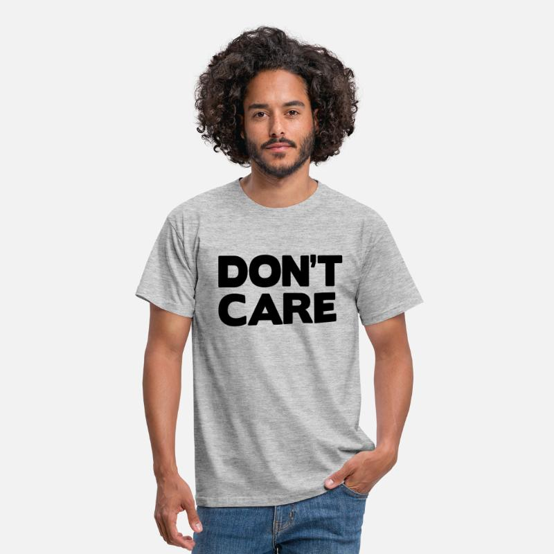 Bestsellers Q4 2018 T-shirts - Don't care - T-shirt Homme gris chiné