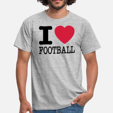 I Love Football i love football / I heart football  2c - Koszulka męska