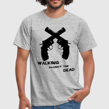 walking against the Dead  - Mannen T-shirt